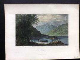 Picturesque America 1873 Hand Col Print. The Susquehanna at Hunters Gap